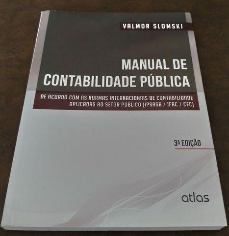 Livro manual de contabilidade pública 3ª ed. valmor
