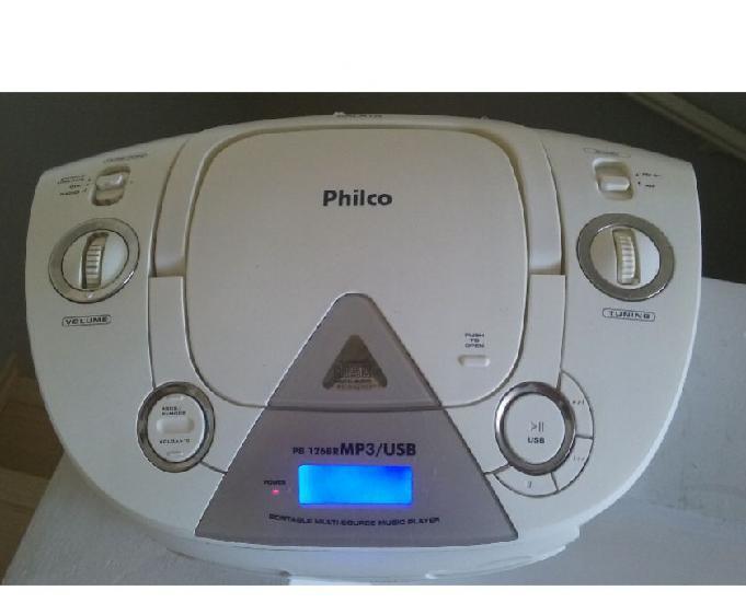 Mini System player Philco PB 126BR-toca:CDUSBMP3AUXAMeFM