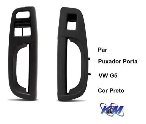 Par moldura puxador de porta gol voyage saveiro g5 - preto