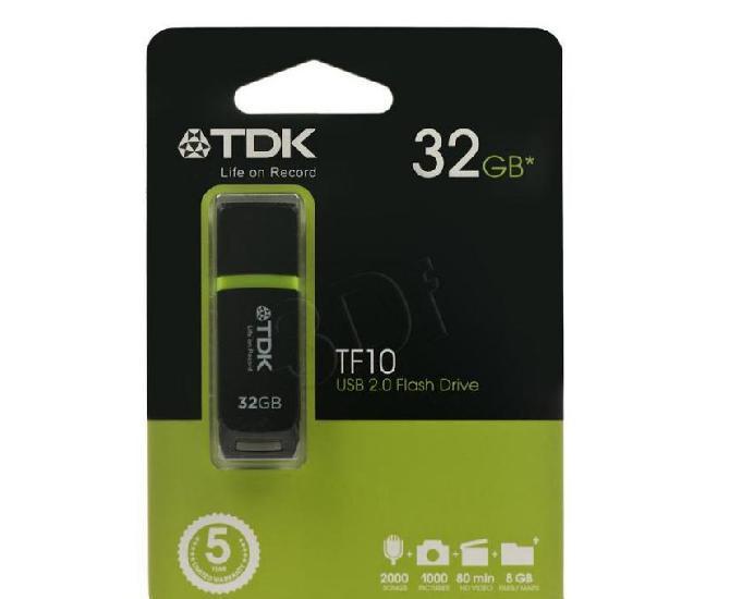 Pen drive TDK TF10 32Gb USB 2.0 preto novo, lacrado na caixa