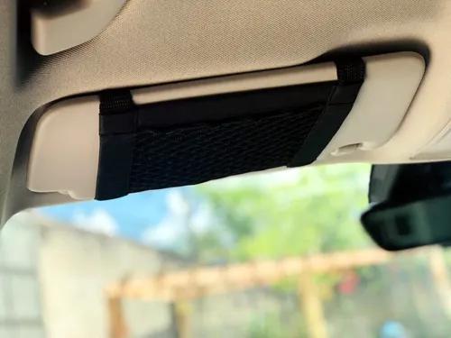 Rede porta objetos/ celular para o quebra sol do carro