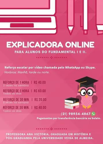 Reforço escolar online para alunos do ensino fundamental