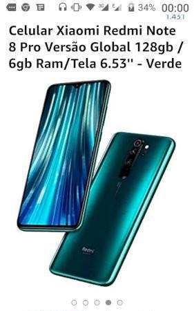 Smartphone Xiaomi Redmi note 8 Verde