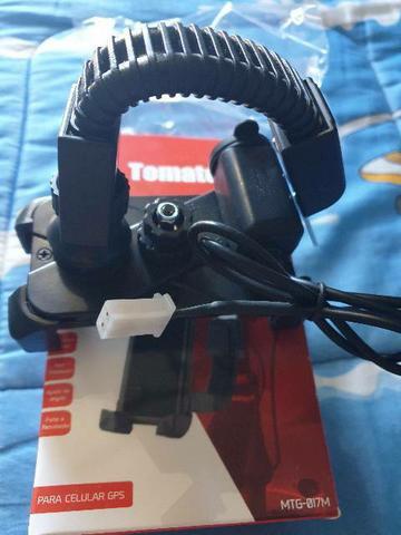 Suporte de celular universal para moto com carregador de