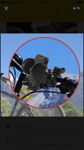 Suporte de celular universal para moto ou bicicleta