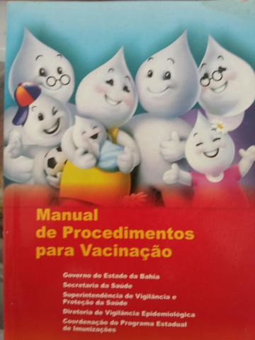 Vende-se excelente livro procedimentos para vacinação (581