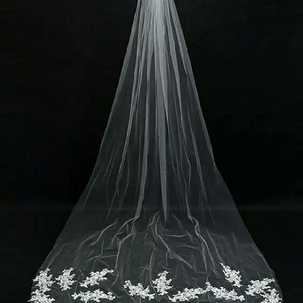 Véu de noiva branco lindo barato
