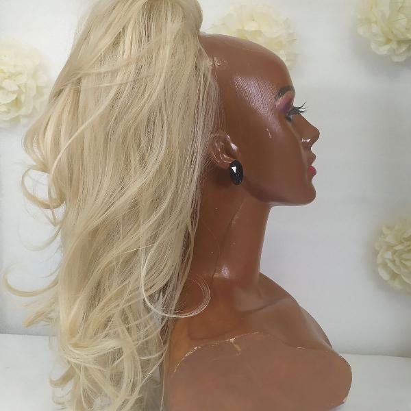 Aplique de cabelo rabo de cavalo