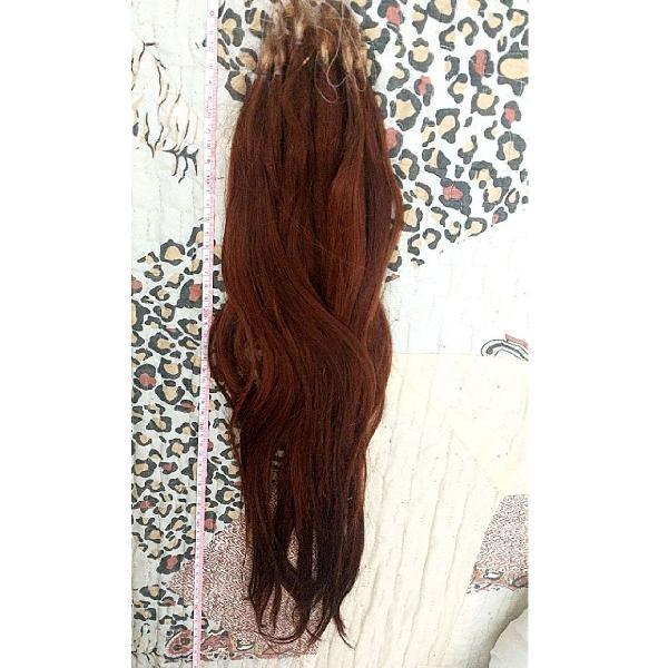 Cabelo humano mega hair 112gramas 52cm
