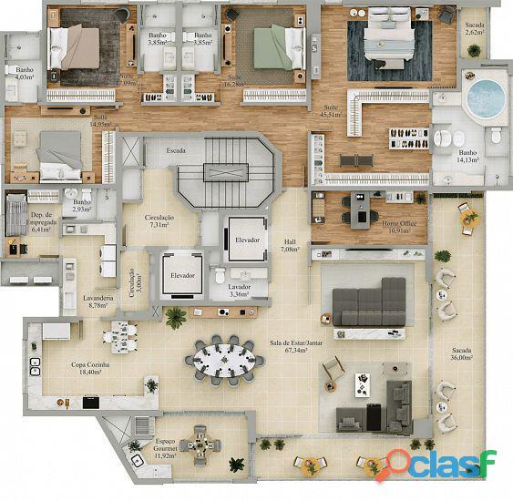 Castello in piazza centro criciúma apartamento a venda