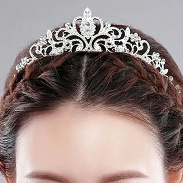Coroa tiara strass noiva debutante casamento arco véu miss
