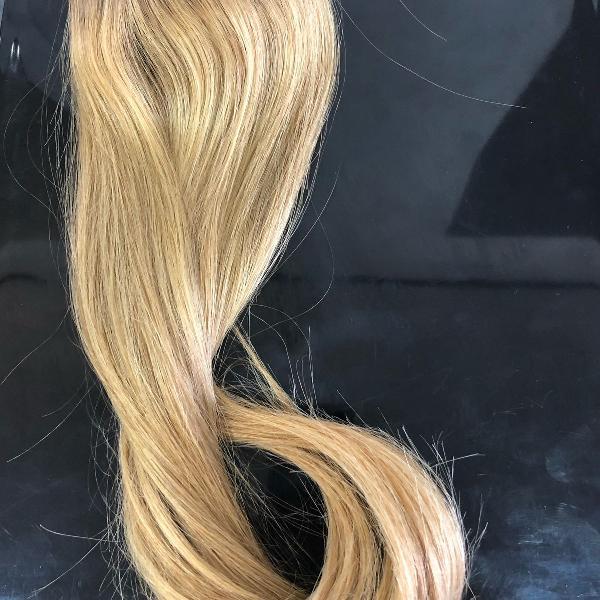 Faixa de cabelo 100% humano loiro mechas 45cm
