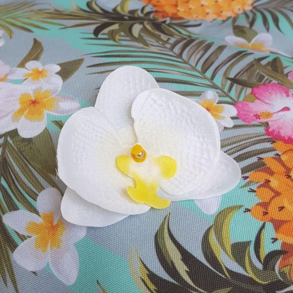 Grampo orquidea branca