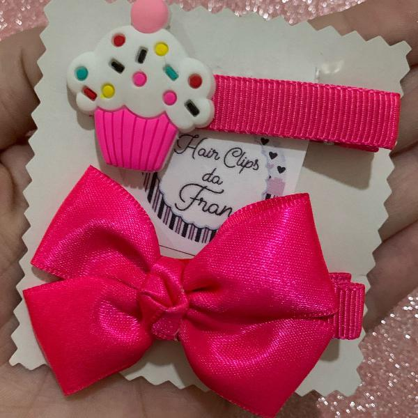 Hair clips cup cake