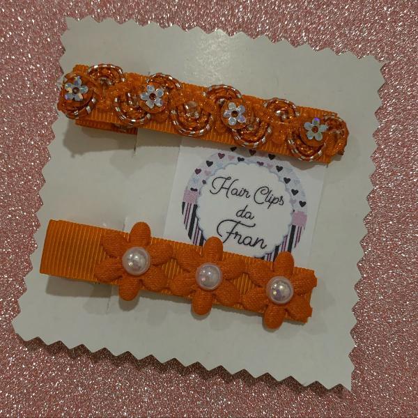 Hair clips laranja