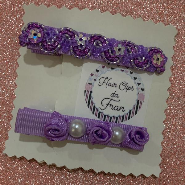 Hair clips lilás