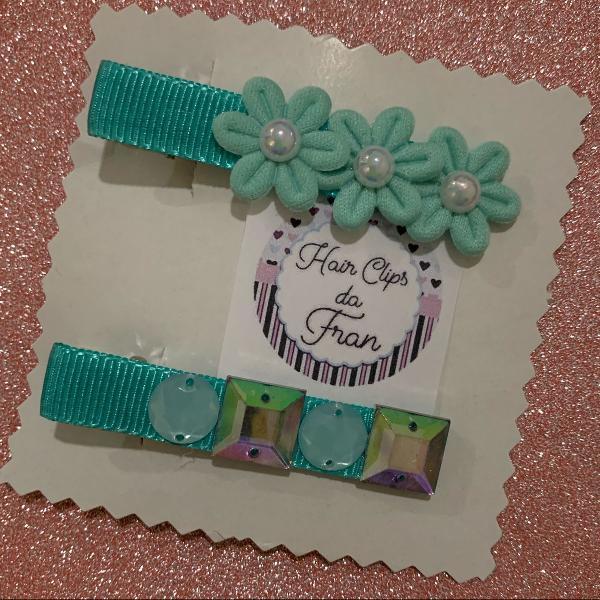 Hair clips verde tiffany