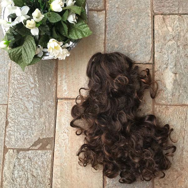 Peruca de cabelo aplique cabeça