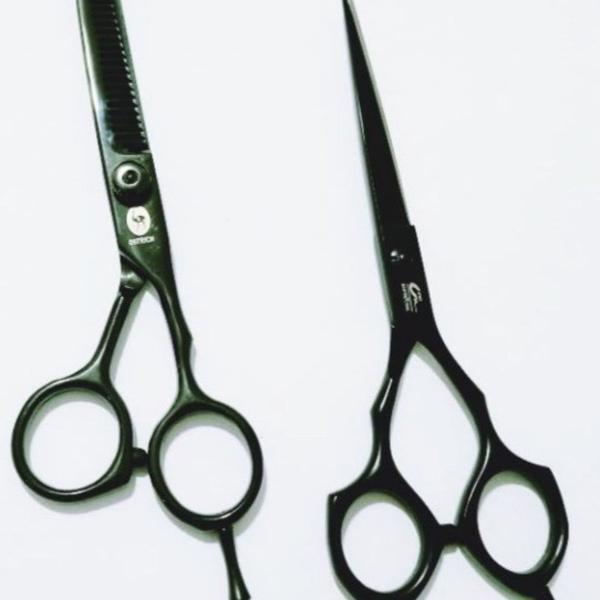 Super oferta - kit tesouras ferro cabeleireiro!