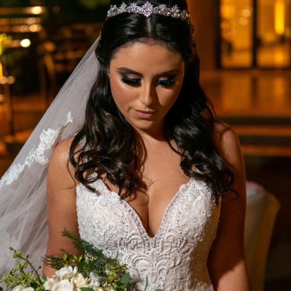 Tiara cravejada para noivas / debutantes