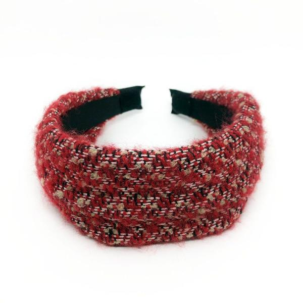 Tiara maxi tweed vermelho