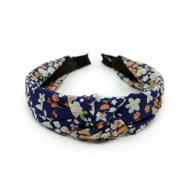 Tiara nó floral azul