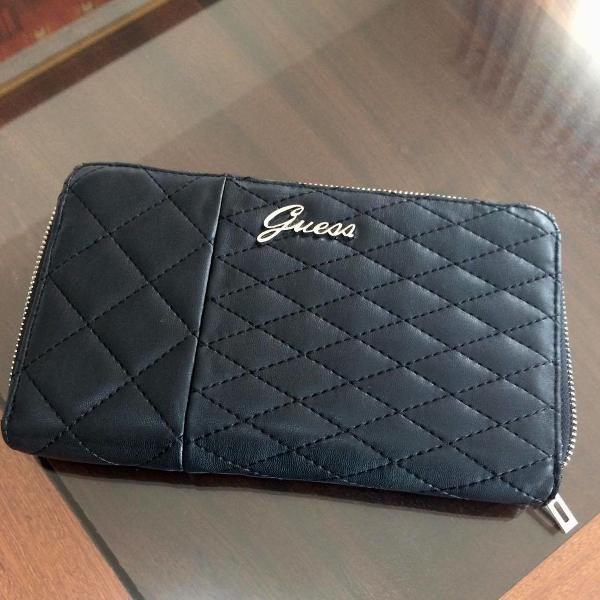 Linda carteira grande ou clutch guess - 100% original