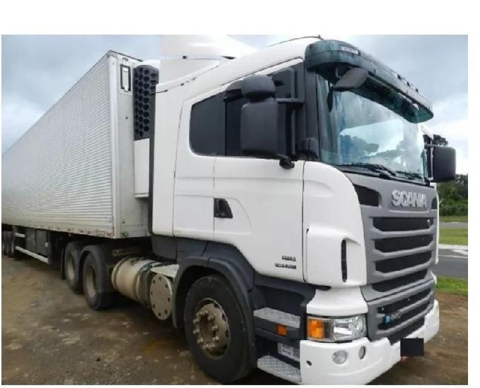 Scania r 440 6x2 2013 automático só puxou camara fria