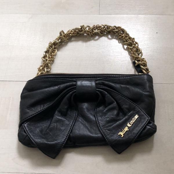 Bolsa juicy couture preta couro com embalagem original