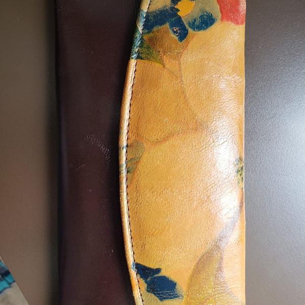 Carteira couro original argentina usada 1 vez