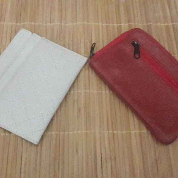 Kit porta cartões e porta níquel couro legítimo thomas
