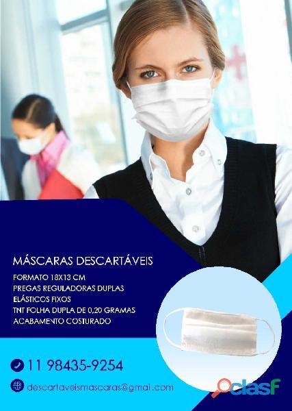 Mascaras descartaveis protecao individual corona virus e outras contaminacoes