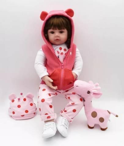 Boneca bebê reborn 48 cm (corpo de pano)