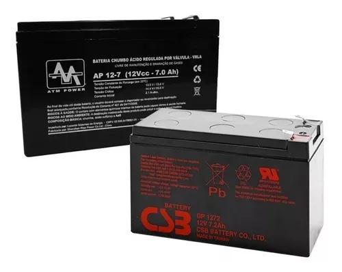 Bateria 12v x 7ah selada para nobreak alarmes cerca