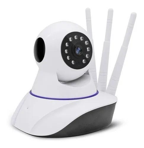 Camera de segurança ip hd 720p infra antenas 360º