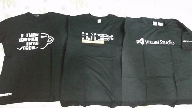Camisetas m de informática: visual studio, sjc hackerclube