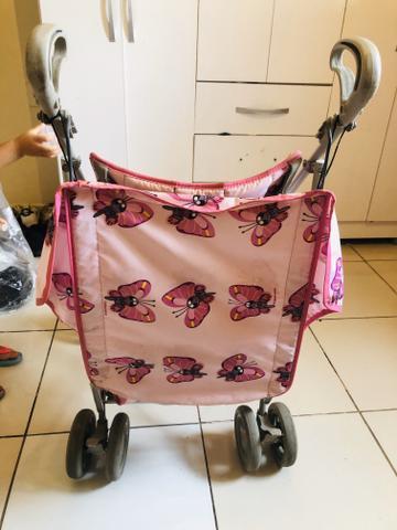 Carrinho de bebê galzerano rosa