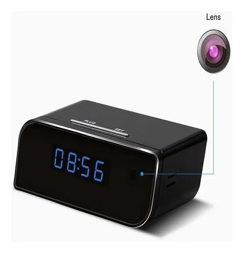 Câmera espião rádio relógio ip online hd 1080p visão