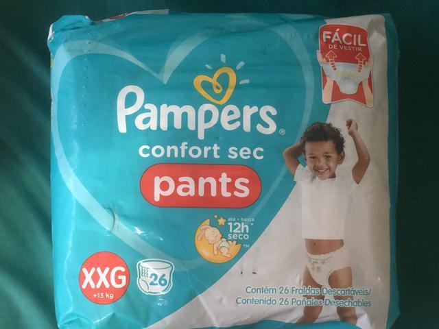 Fraldas pampers pants, tamanho xxg