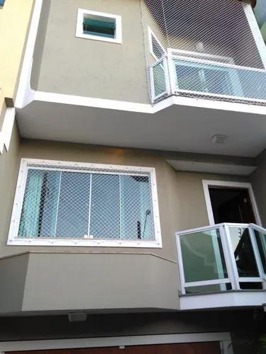 Kit completo rede tela de proteção janelas sacadas até 10