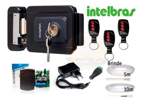 Kit fechadura elétrica intelbras reversível fx2000