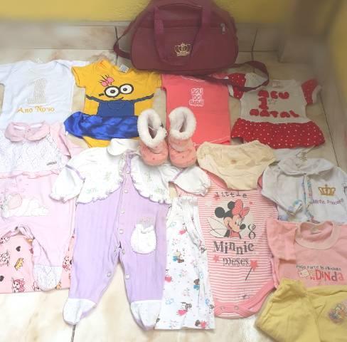 Lote de roupas bebê menina
