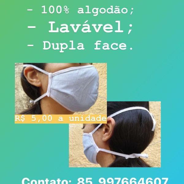 Máscara de pano para proteção
