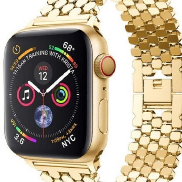 Pulseira de aço inoxidável para apple watch band pulseira