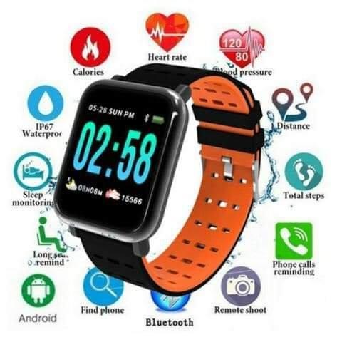 Relógio smartband a6 monitor cardíaco pressão arterial