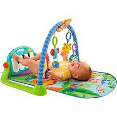 Tapete de atividades com pianinho para bebê - fisher price