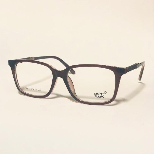 Armação para óculos de grau masculino mont blanc marrom