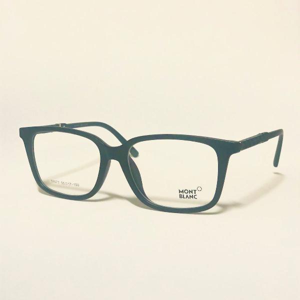 Armação para óculos de grau masculino mont blanc preto