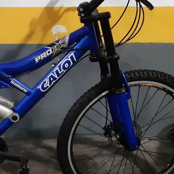 Bicicleta caloi freio a disco aro 21