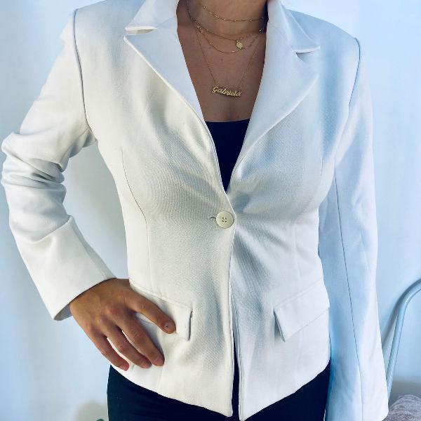 Blazer branco retrô anos 90 ajustado falacci